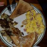 Ham and Cheese Omelet plate