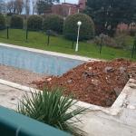 La piscine, non conforme aux photos de l'hotel