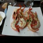 gambas au four rizotto