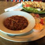 Their all-meat chili is one of the best in town and goes well with the chicken quesadilla.