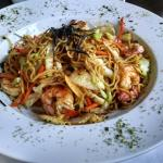 Shrimp yaki soba