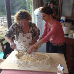 Pasta making class at Cretaiole
