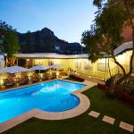 Two heated swimming pools, outdoor and covered