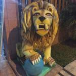 Lion outside the Vaz resturant
