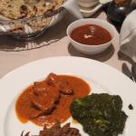 Main Course: Butter chicken, Lamb, Spinach Paneer, Daal Makhani, Naan