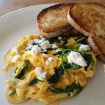 Eggs with spinach and feta