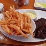 Steak and frites (not remotely chewable)