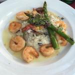 Porcini mushroom risotto with seafood