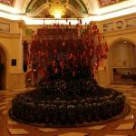 main lobby of hotel during Chinese New Year