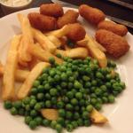 Only scampi and chips but no evidence of care in the presentation