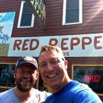 Introducing a buddy from Illinoise to the Red Pepper! He loved it!