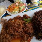 Ropa Vieja, Arroz Moro, Yuca & Salad