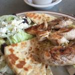 My chicken on rice with Greek salad on Easter Sunday !