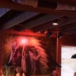 American Indian artwork in dining room