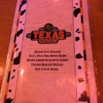 Front cover of Texas Roadhouse Menu