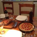 Our Easter meal cooked in the lovely Aga at the place
