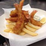 Seared tuna and Coffs coast prawns