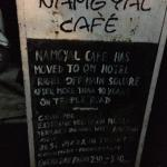 Namgyal cafe board