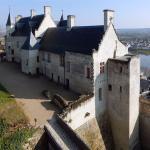 forteresse royale de Chinon, vue de l'intérieur du parc