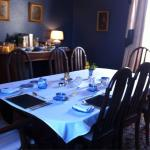 The lovely breakfast room and the view from the Northorpe room
