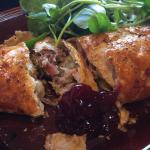 Homemade Hog Roast Sausage Roll, filled with ham hock, stuffing & apple! A true gem.. and delici
