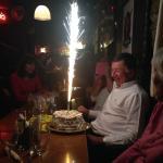 Brilliant Birthday Celebratio. thank you for the amazing complimentary Gateau!!