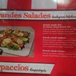 la grande salade proposée dans le menu... tres alléchante