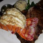 Special request, Rib Eye steak and Lobster Tail.