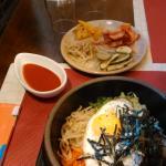 Bimimbap et kimchis
