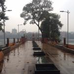Rainy View of Talaopali Lake Thane.
