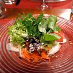 first class 'petite' - not! salad as starter
