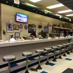 Love the old cafe counter!! Look at that! Wow! Nice job, Leo's!!