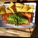 Toast with smoked Salmon, Arugula and Avocado