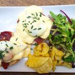 Eggs Benedict with English Muffins, bacon and Hollandaise