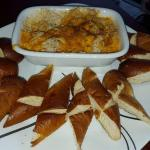 Crab Dip with fresh baked soft pretzel triangles
