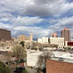 Here's the view from my room of the Albuquerque skyline.