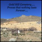 gold hill cemetery just up the road from hotel
