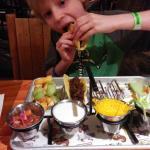 Adorable Kid's taco station.