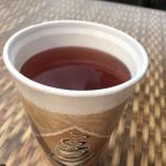 Apple crumble + cheery tea