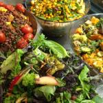 Organic Salads to die for....