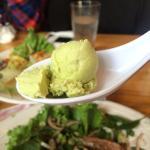 Complementary: Green tea ice cream