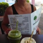 Green Giant Smoothie and The Alchemist Smoothie and Jules!
