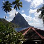 Island view of the Piton mountain