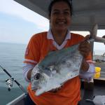 Our Fishing Trip - catch of te day 'Diamond Trevally'
