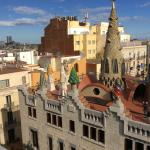 The wonderful and quirky rooftop chimneys of Palau Guell opposite the hotel.