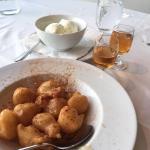 greek donuts with homemade vanilla ice cream