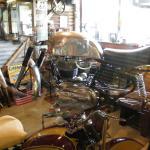 Workshop inside the Pitstop Cafe
