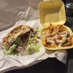 Best Kebab Ever with Cheesy Chips in Chilli Sauce and Mayonnaise