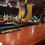 an island style bar table