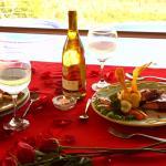 Una cena romántica para que disfrutes con quien amas.